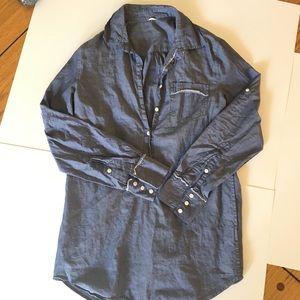 Jcrew Tunic Women's Roll up sleeve Cotton shirt